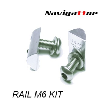 Set of M6 screws for rail