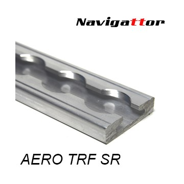 AERO Rail track rounded silver 1m